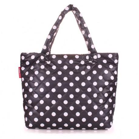 Дутая сумка горох Poolparty dots (черный)