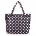 Женская дутая сумка с принтом горох Poolparty dots