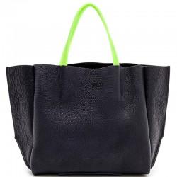 Летняя сумка Poolparty SOHO NEON (черный)