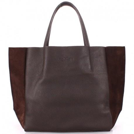 Вместительная сумка Poolparty SOHO BAG Velour (коричневый)