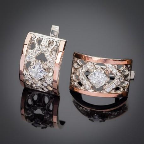 Сережки Триумф - серебро 925 пробы