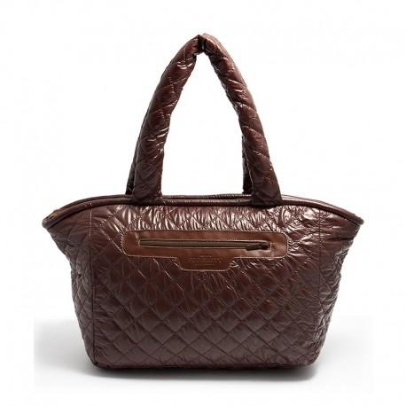 Стеганая сумка Poolparty COCOON (коричневая)