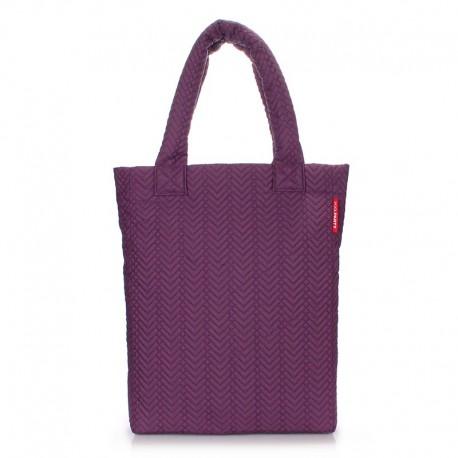 Прямая стеганая сумка POOLPARTY (фиолетовая)