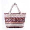 Удобная дутая сумка с зимним узором Снежинка Poolparty