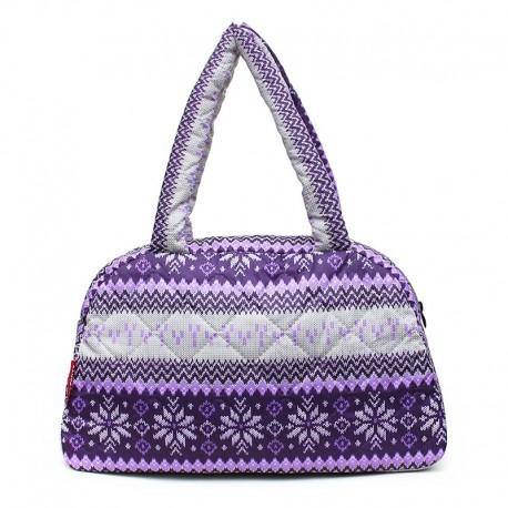 Сумка-саквояж Poolparty PUFFY BAGS (фиолетовая)