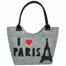 Сумка из войлока I LOVE PARIS