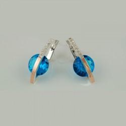 Очаровательные серебряные серьги Зоря с камнем