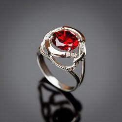 Кольцо из серебра Анжелика - вставки цирконий
