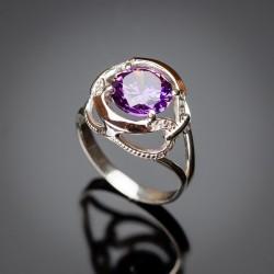Кольцо из серебра Анжелика (фиолетовый)