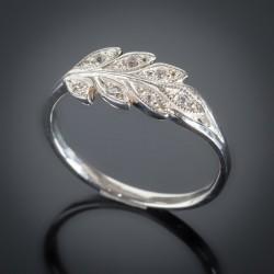 Кольцо из серебра Колосок