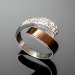 Серебряное кольцо Людмила