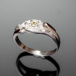 Серебряное кольцо Камила (желтый)