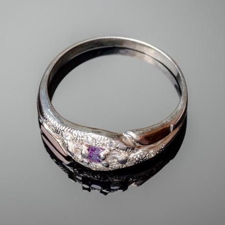 Серебряное кольцо Камила (аметист)