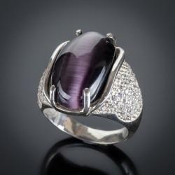 Серебряное кольцо Ольга (Улексит)
