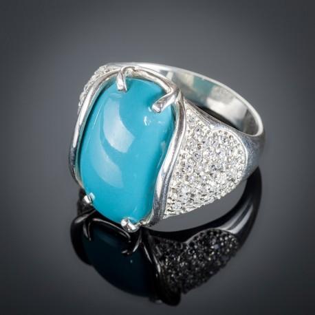 Серебряное кольцо Ольга (Бирюза)