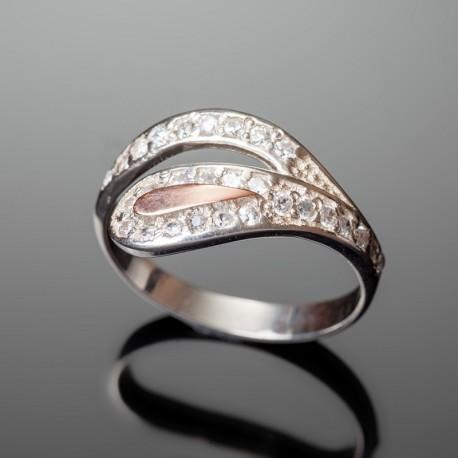 Серебряное кольцо Мальва