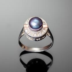 Серебряное кольцо Каприз (синий)