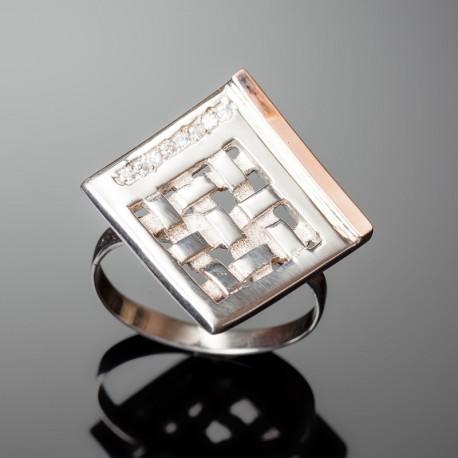 Серебряное кольцо Любава