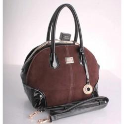 Замшевая женская сумка Fabbiano, с замком фермуар