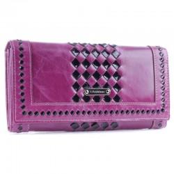 Кожаный кошелек Fabbiano (фиолетовый)