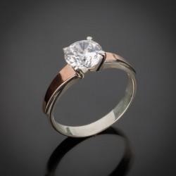 Женское колечко Кристалл - серебро