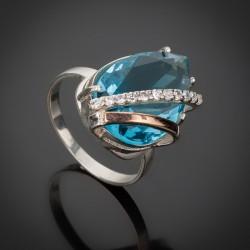 Кольцо Сюзанна с голубым камнем