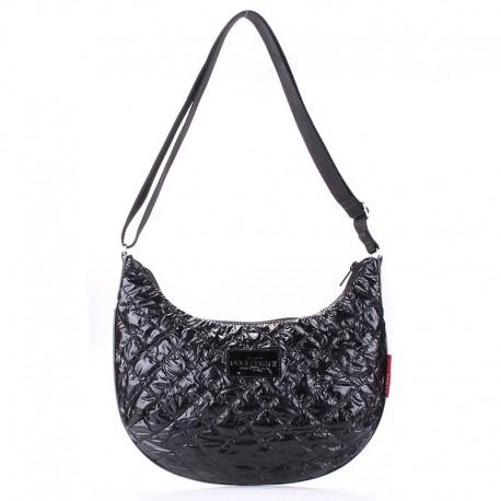 Черная сумка через плечо Poolparty, болонья (черный)