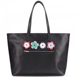 Женская сумка Poolparty Flora Black, кожезаменитель
