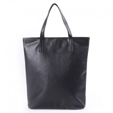 Poolparty TULIP сумка-тоут, 38х40х8см, кожзам (черный)