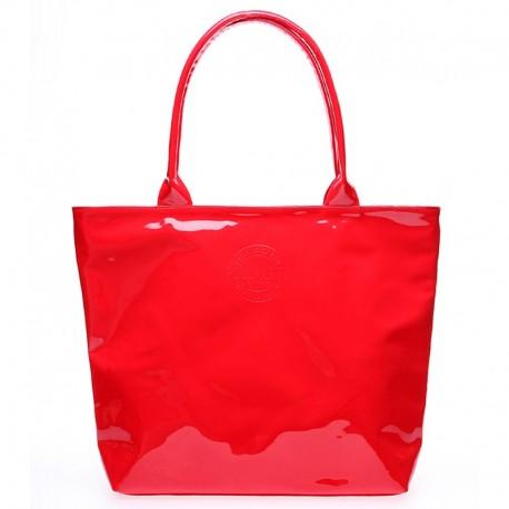 Лаковая женская сумка Poolparty POOL7 (красный)