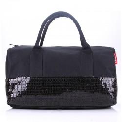 Женская сумка-багет POOLPARTY ROCKNROLL с пайетками (черный)