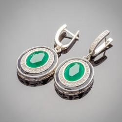 Серебряные серьги с подвеской Земфира