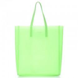 Модная силиконовая сумка Poolparty CITY GLOSSIP (салатовый)