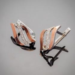 Ювелирное изделие - серебряные серьги Фаина