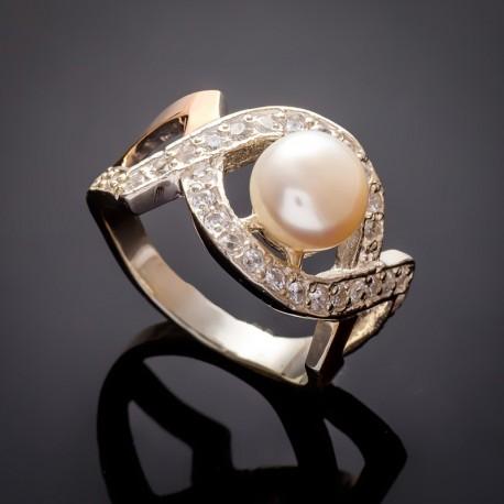 Кольцо с белым жемчугом Луиза
