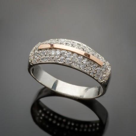 Серебряное кольцо САНДРА