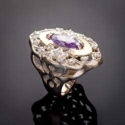 Серебряное кольцо Роксолана (аметист)