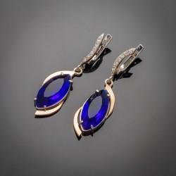 Серебряные серьги Марго (синий)