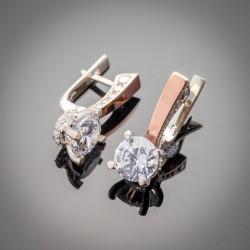 Яна - женские серьги из серебра