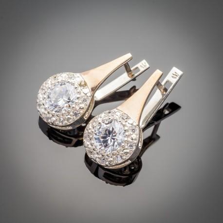 Олеся - женские серьги из серебра