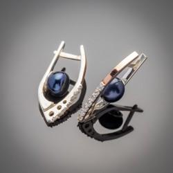 Красивые серебряные серьги Рита