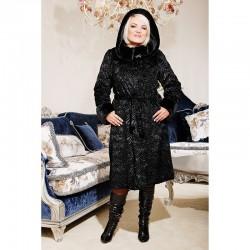 Женская каракулевая шуба СВЕТЛАНА, черная