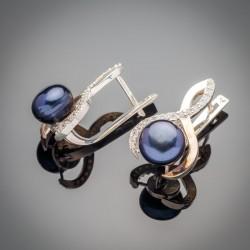 Серьги с жемчугом Лючия - стерлинговое серебро