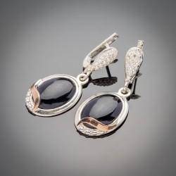 Серебряные серьги Прованс