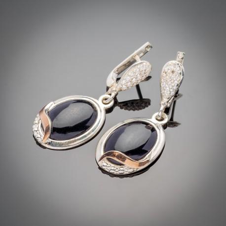 Серебряные серьги Прованс с авантюрином