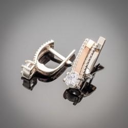 Шикарные серьги Мэри с цирконием (белый)