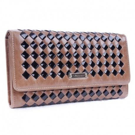 Кожаный кошелек Fabbiano (бежевый)