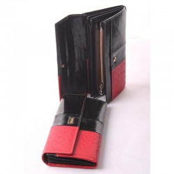 Стильный женский кошелек Velina Fabbiano, красно-черный