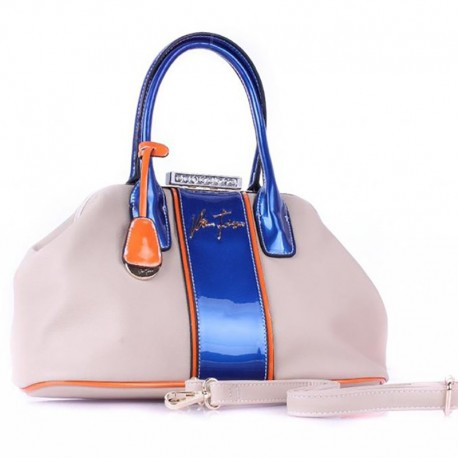 Двухцветная сумка Велина Фабиано (беж)