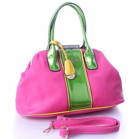 Двухцветная сумка Велина Фабиано (розовая)